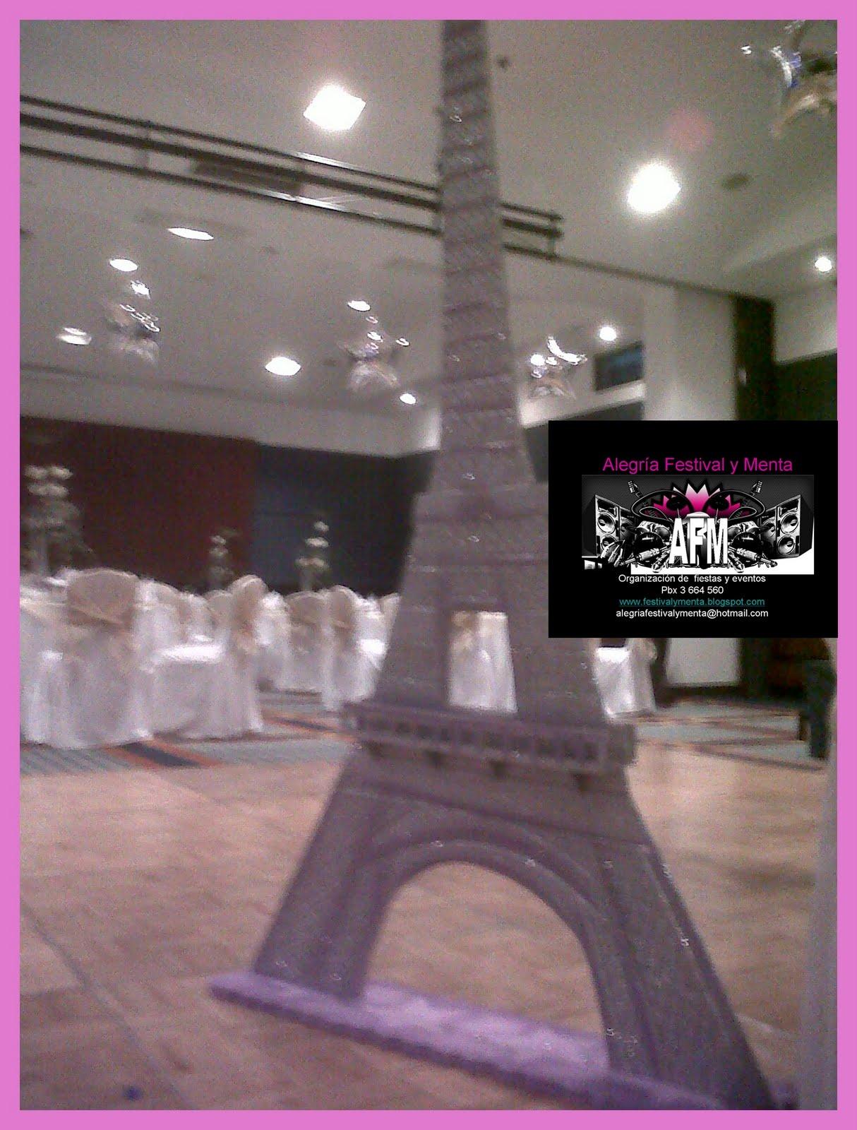 Alegria festival y menta bodas 15 a os fiesta tematica paris for Decoracion quince anos paris