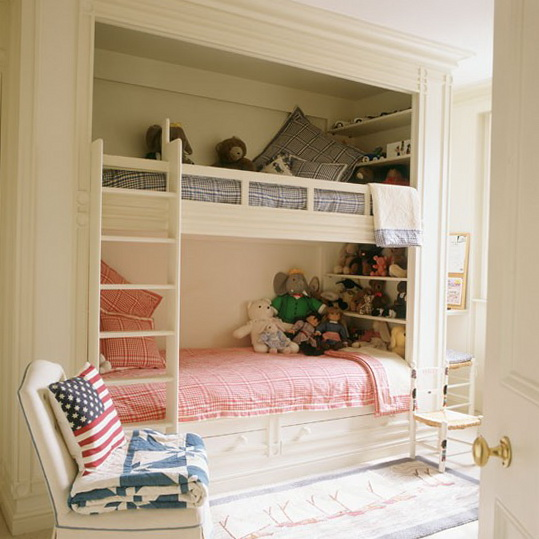 Woodmaster woodworks inc children rooms for Bunk beds built into wall