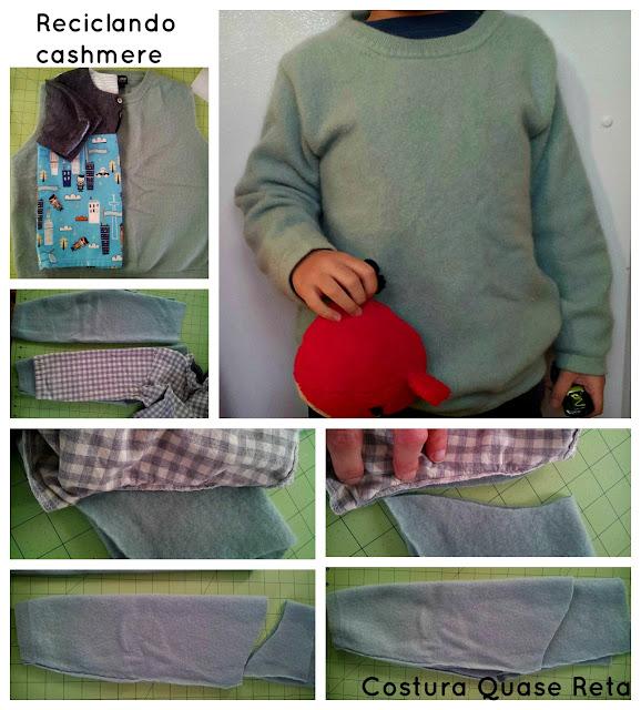 costura blusa de lã