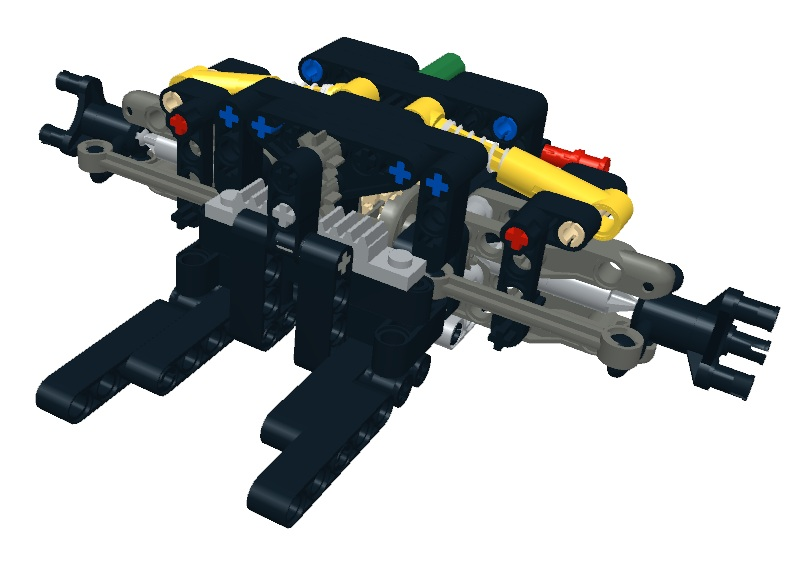 Sheepo's Garage: MPS. Front axles V: Double wishbone with Lego hub I