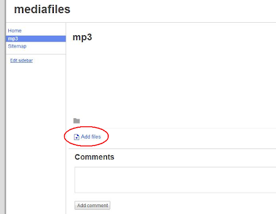 Add mp3 files to Google Sites