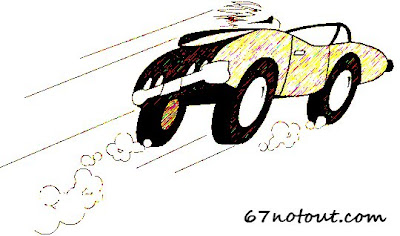 Speeding car cartoon clip art