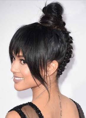 gaya rambut topknot - Karrueche Tran_655487