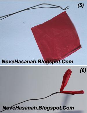cara membuat bunga dari kantong plastik kresek bekas pakai yang sangat mudah 6