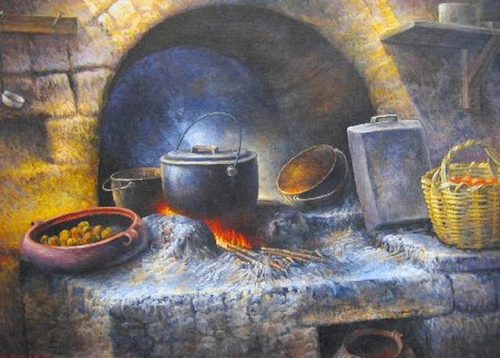 Pintura moderna y fotograf a art stica bodegones cocinas - Cocinas de famosos ...