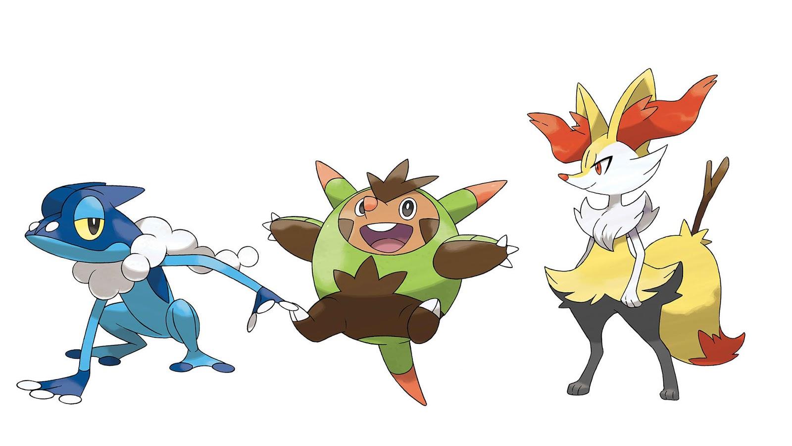 The center of anime and toku pok mon x y kalos starter - X evolution pokemon ...