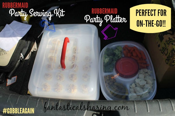 Transport your holiday foods safe and secure in @Rubbermaid 's new Party Platter and Party Serving Kit containers - plus a recipe! #GobbleAgain #IC #ad