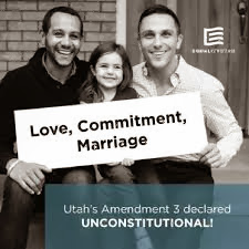 first gay couple married in Utah, with their daughter