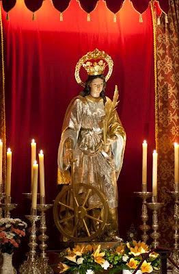 Santa Catarina de Alexandria, padroeira de Jaén, Espanha
