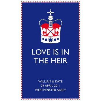 royal wedding tea towel. Tea towels are a much nicer