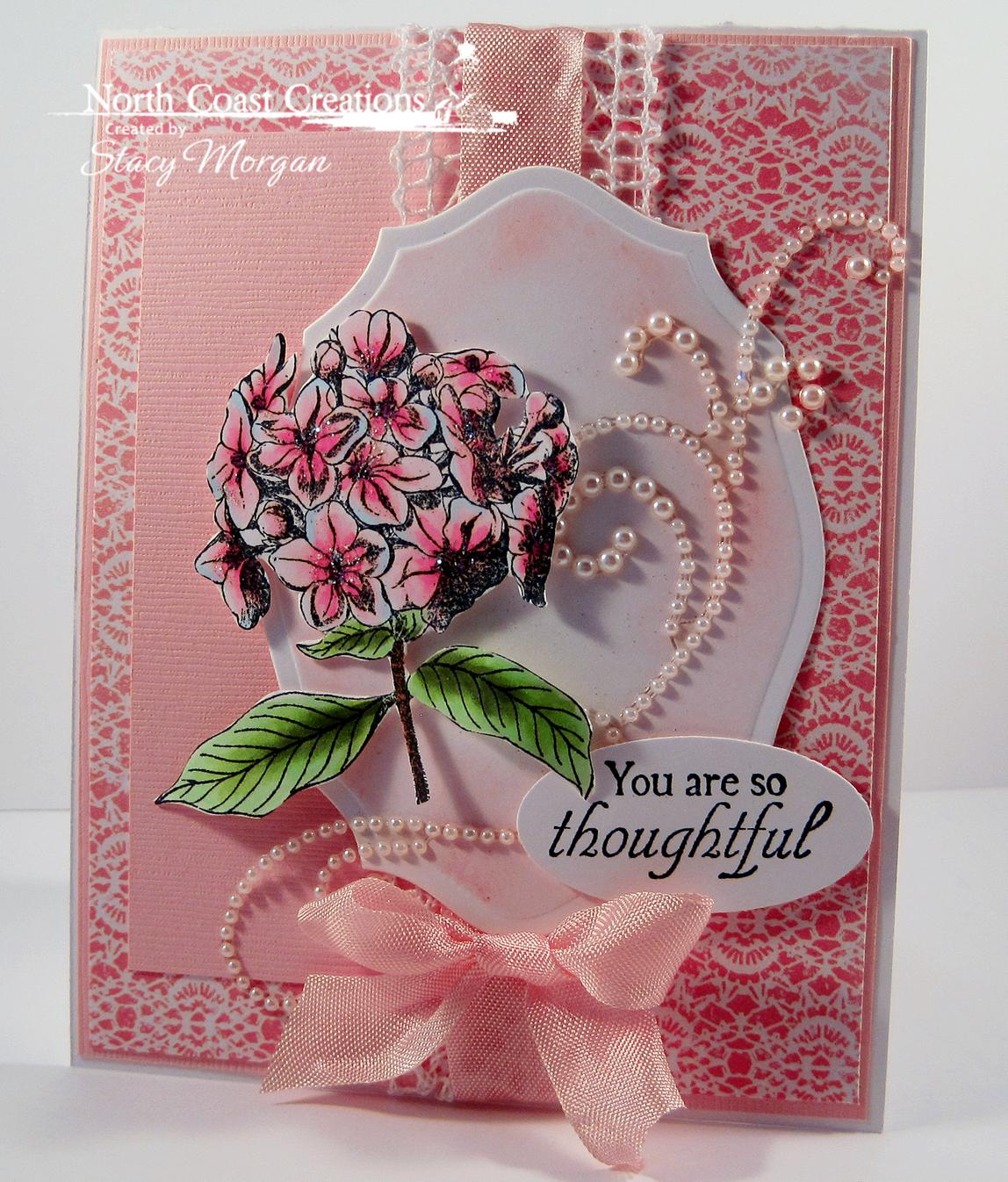 Stamps - North Coast Creations Floral Sentiments 6, ODBD Custom Heart and Soul Paper Collection, ODBD Elegant Oval Die