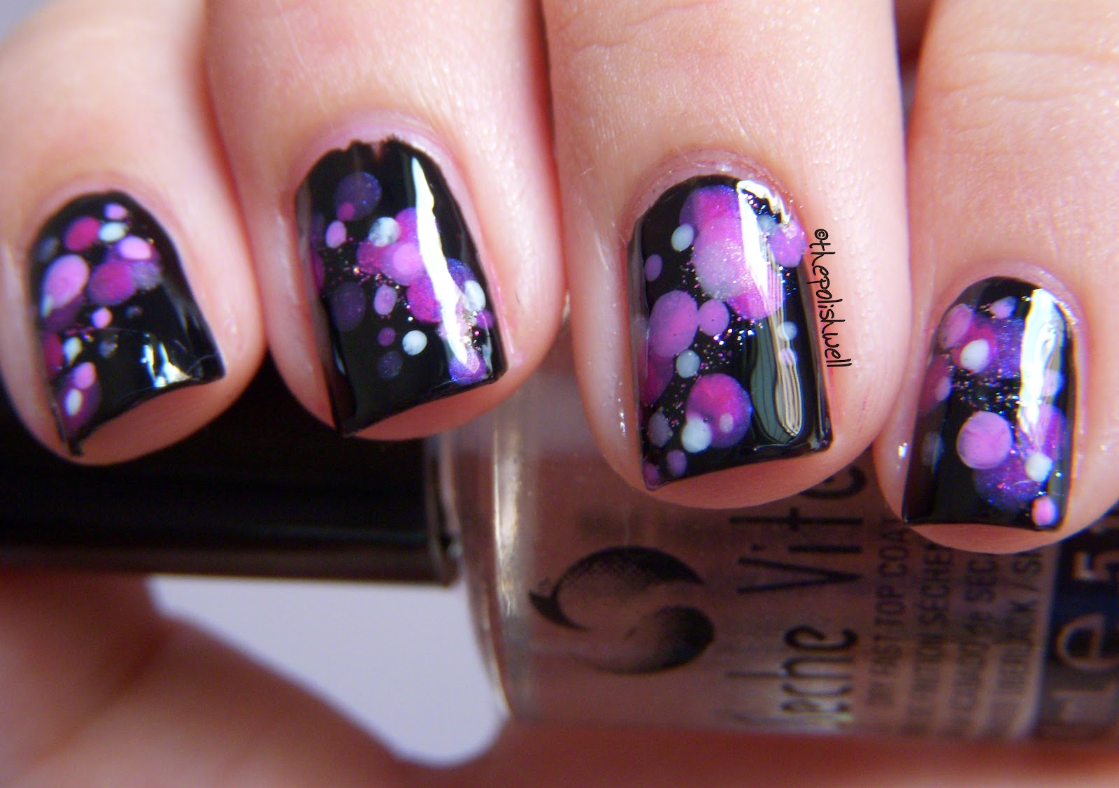 The polish well nail ideas purple and pink bokeh dots nail ideas purple and pink bokeh dots prinsesfo Gallery