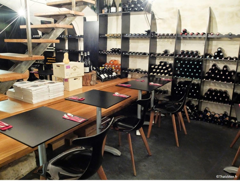 Cave à vins salle sous-sol salle déco Restaurant Pierre Sang in Oberkampf