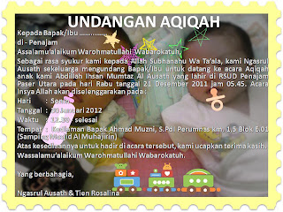 Download Contoh Undangan Aqiqah Format Gambar Office