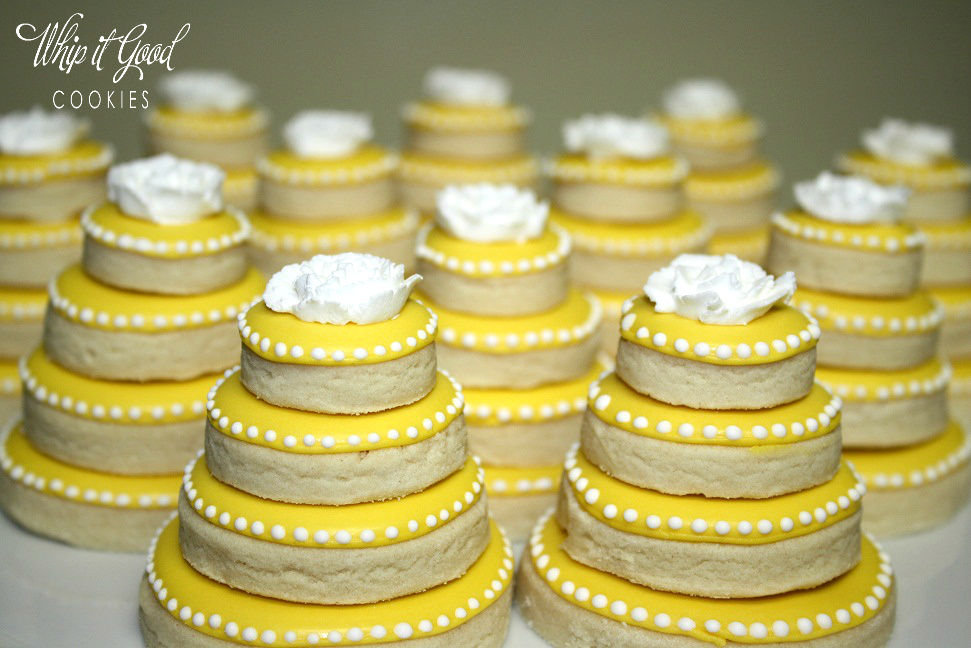 Whip it Good Cookies: Wedding Cookie Cakes