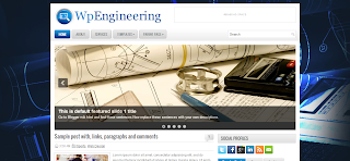 WpEngineering Blogger Template Is a Free Premium Wordpress To Blogger Converted Blogger Template