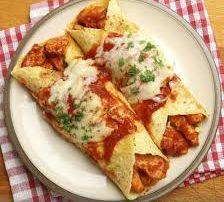 Enchiladas de Salchichas y Col