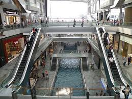 Canal in Shopping Centre part of Marina Sands Complex Singapore