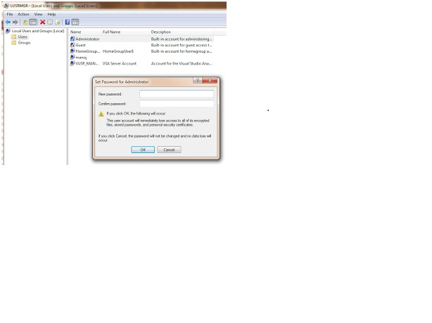how to change administrator password in windows xp using regedit