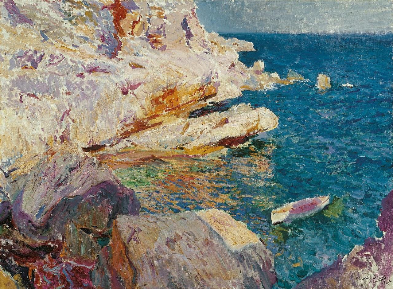 El bote blanco, oleo sobre lienzo