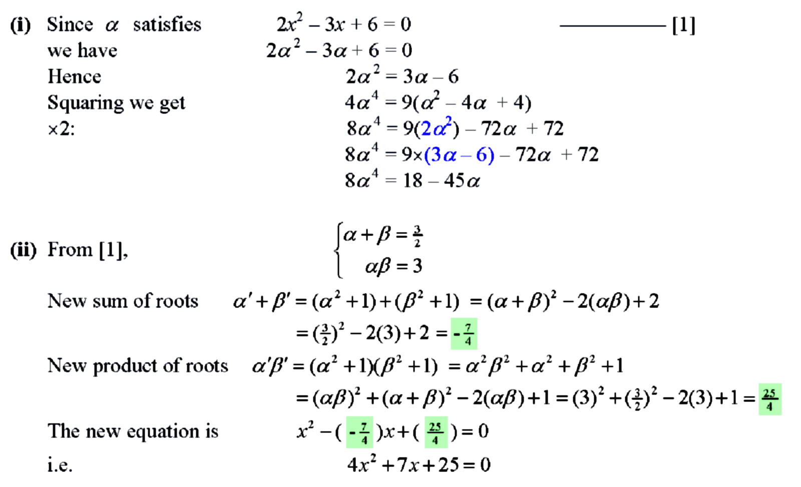 theory of quadratic equation pdf