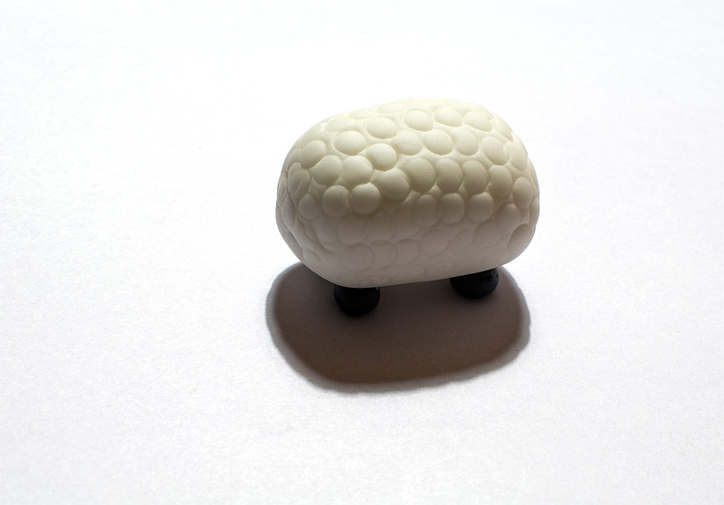 Sheep fondant figure
