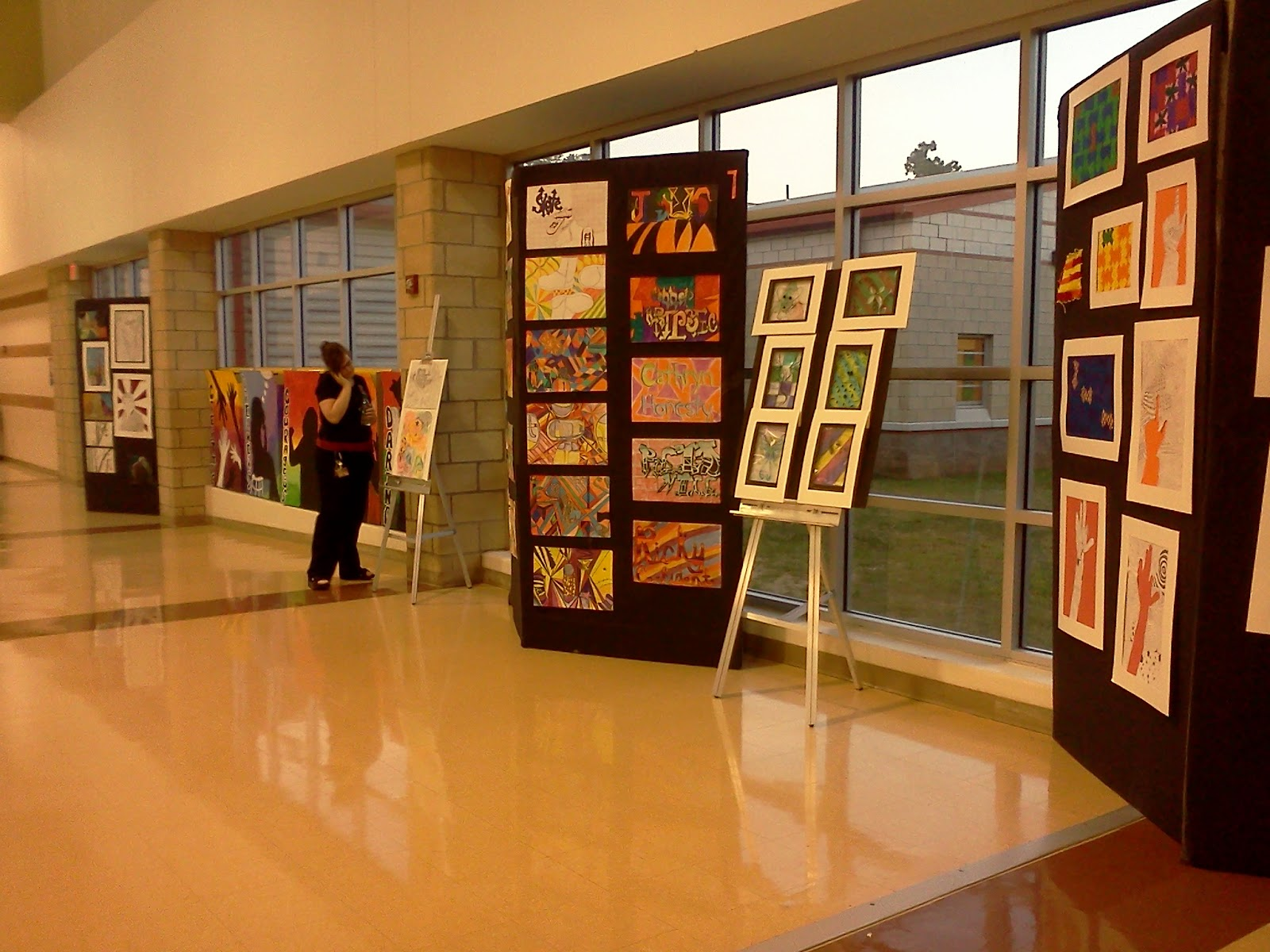Fabric Exhibition Stand Ideas : Less talk more art a middle school ed show