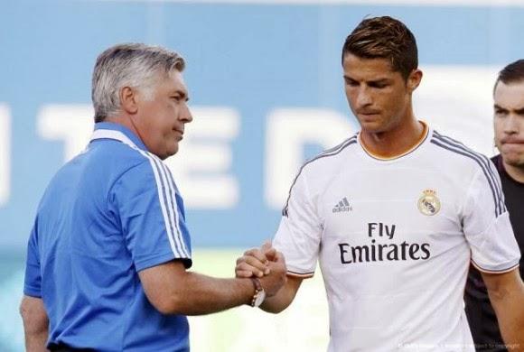 Carlo Ancelotti y Cristiano Ronaldo