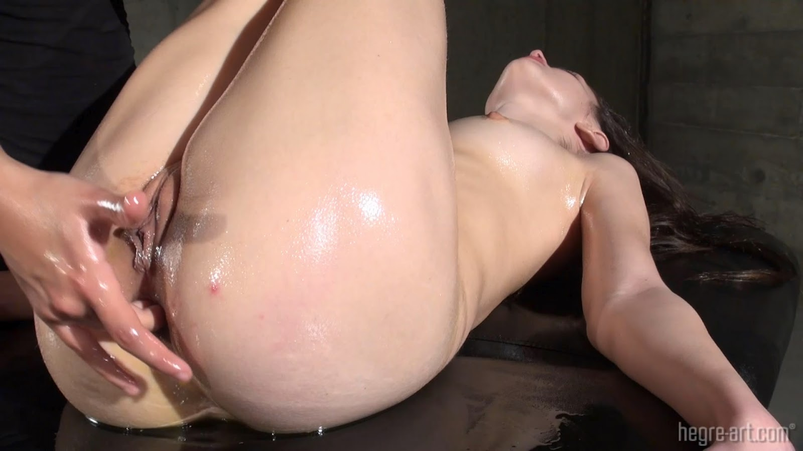 Hegre art orgasmic oily anal massage