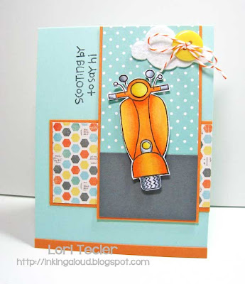 Scooting by to Say Hi-designed by Lori Tecler-Inking Aloud-stamps from Paper Smooches