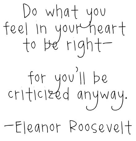 Eleanor Roosevelt Inspirational Motivational Quote
