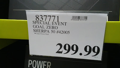 Goal Zero Sherpa 50 Solar Recharging Kit deal at Costco