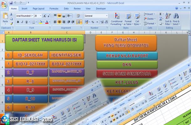 Aplikasi Pengolahan Nilai Kelas 6 SD/MI dengan Microsoft Excel
