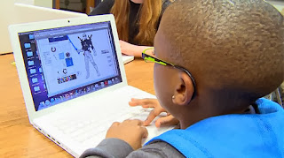 A student creating a super digital citizen