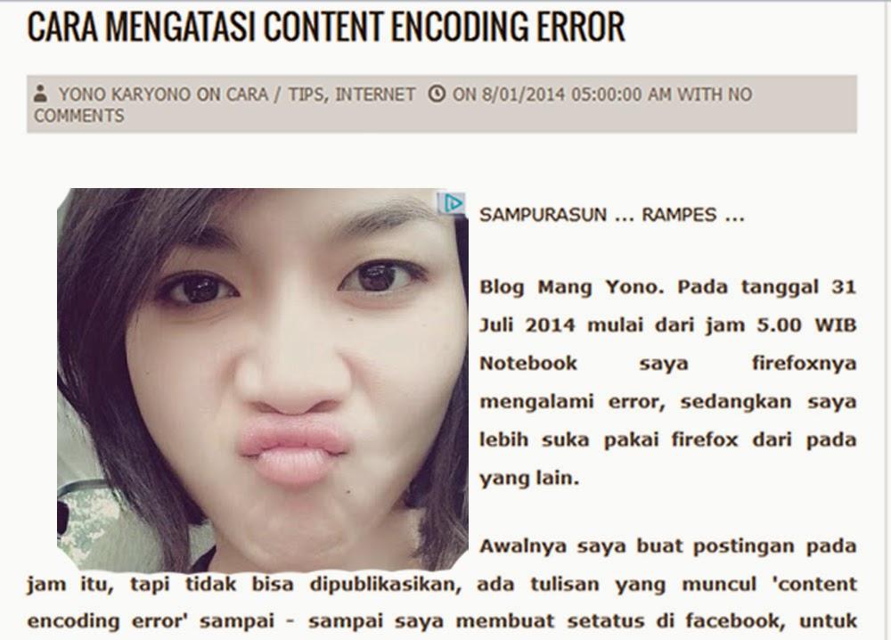 Cara mengatasi content encoding error