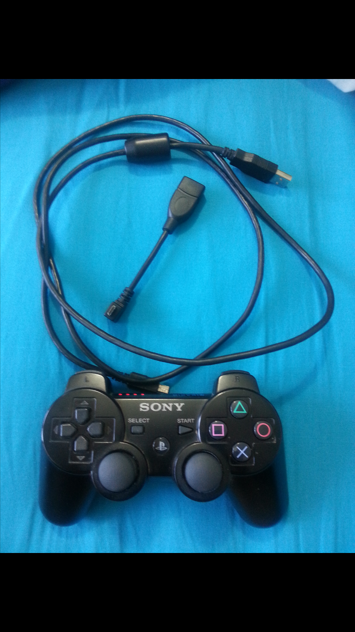 How to connect the PS3 joystick
