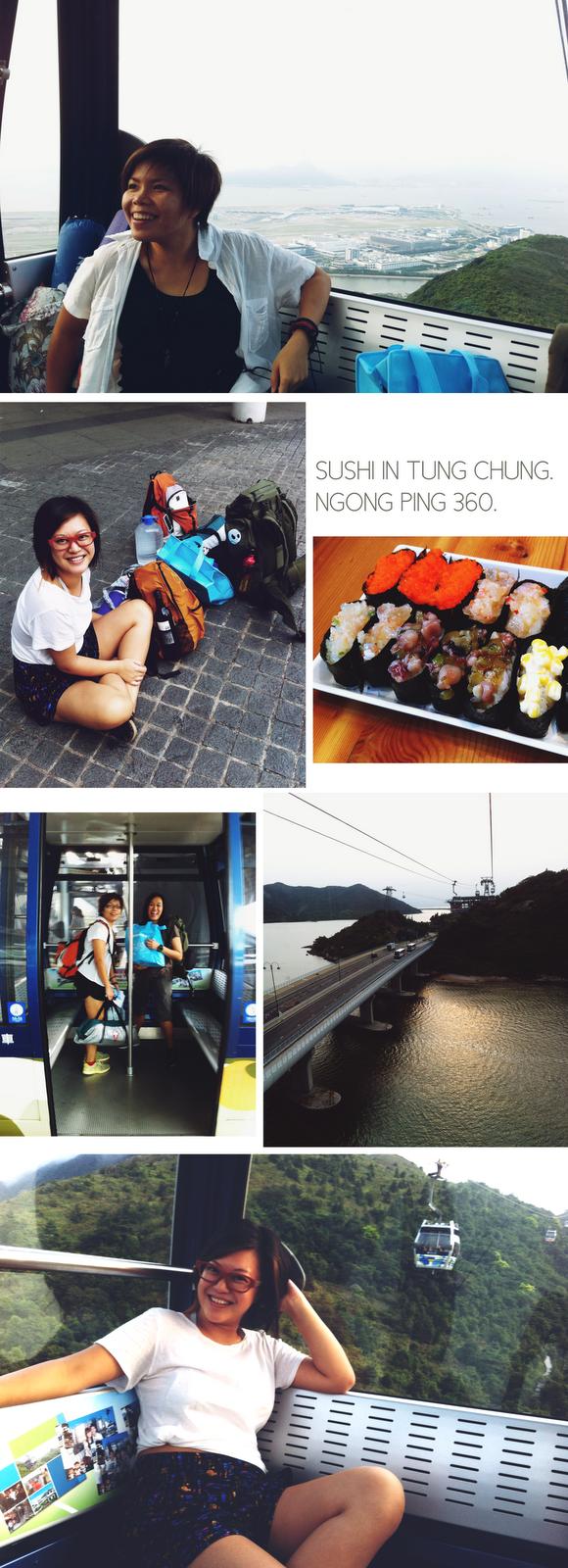 Ngong Ping cable car camping.