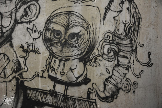New Indoor Mural By The Popular French Street Artist Dran For The Lasco Project - Palais De Tokyo, Paris. 5