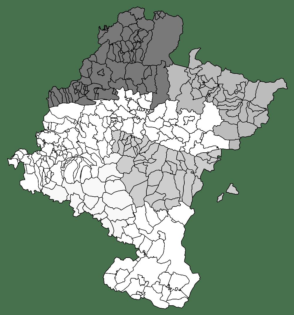 Mapa mudo de Navarra para imprimir