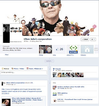 Facebook Page Elton Johns Corporation
