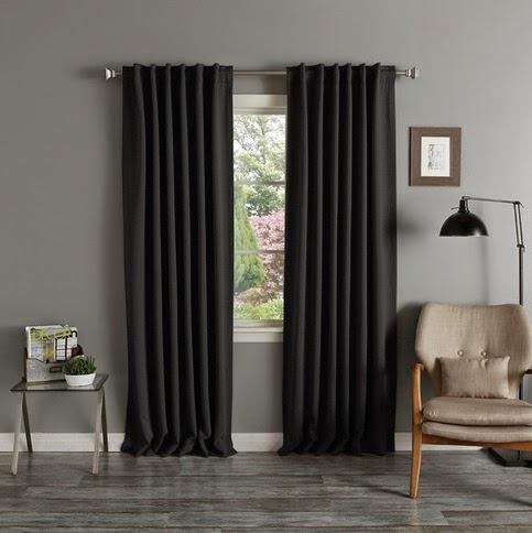 rideau noir rideaux et voilages. Black Bedroom Furniture Sets. Home Design Ideas