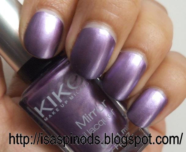 Little fairy u as kiko mirror nail lacquer - Pintaunas kiko efecto espejo ...