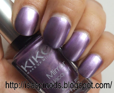 Little fairy u as kiko mirror nail lacquer - Pintaunas efecto espejo kiko ...