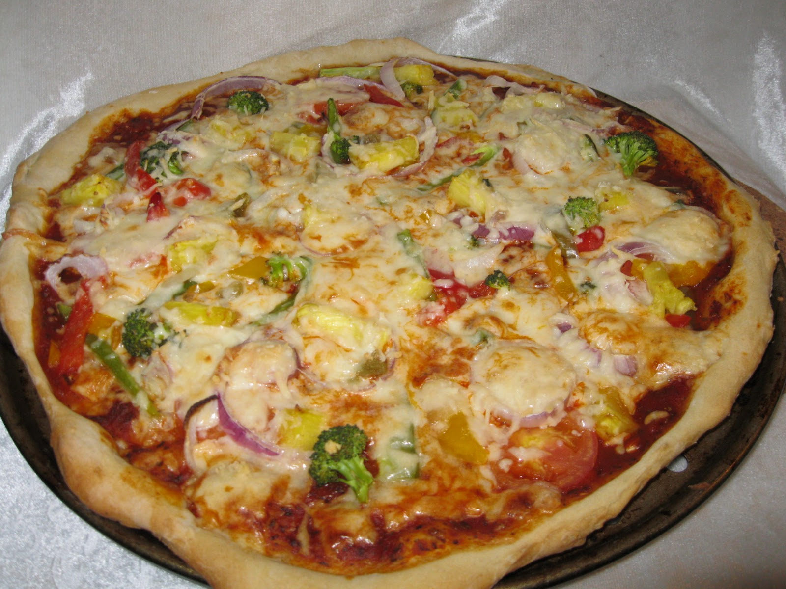 Vegan pizza homemade