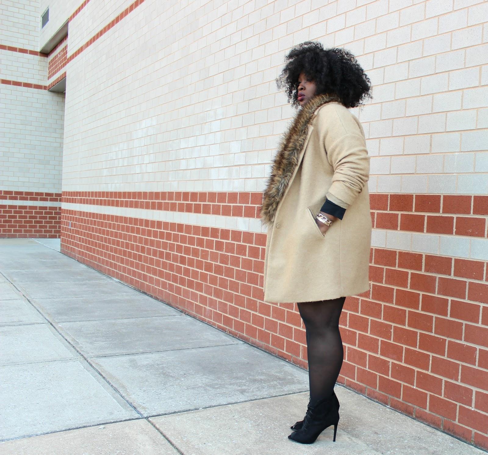 HOW TO WEAR A BOYFRIEND COAT , PLUS SIZE FASHION