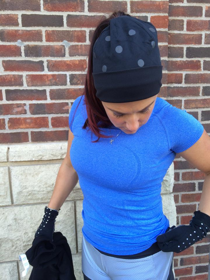 lululemon dot reflective run gloves