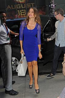 Sofia Vergara in a blue dress
