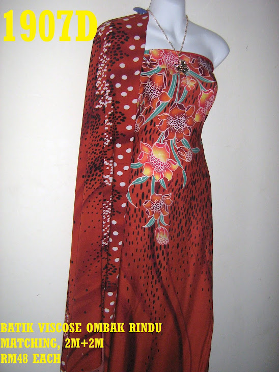 BVM 1907D: BATIK VISCOSE OMBAK RINDU MATCHING, EXCLUSIVE DESIGN, 2M+2M