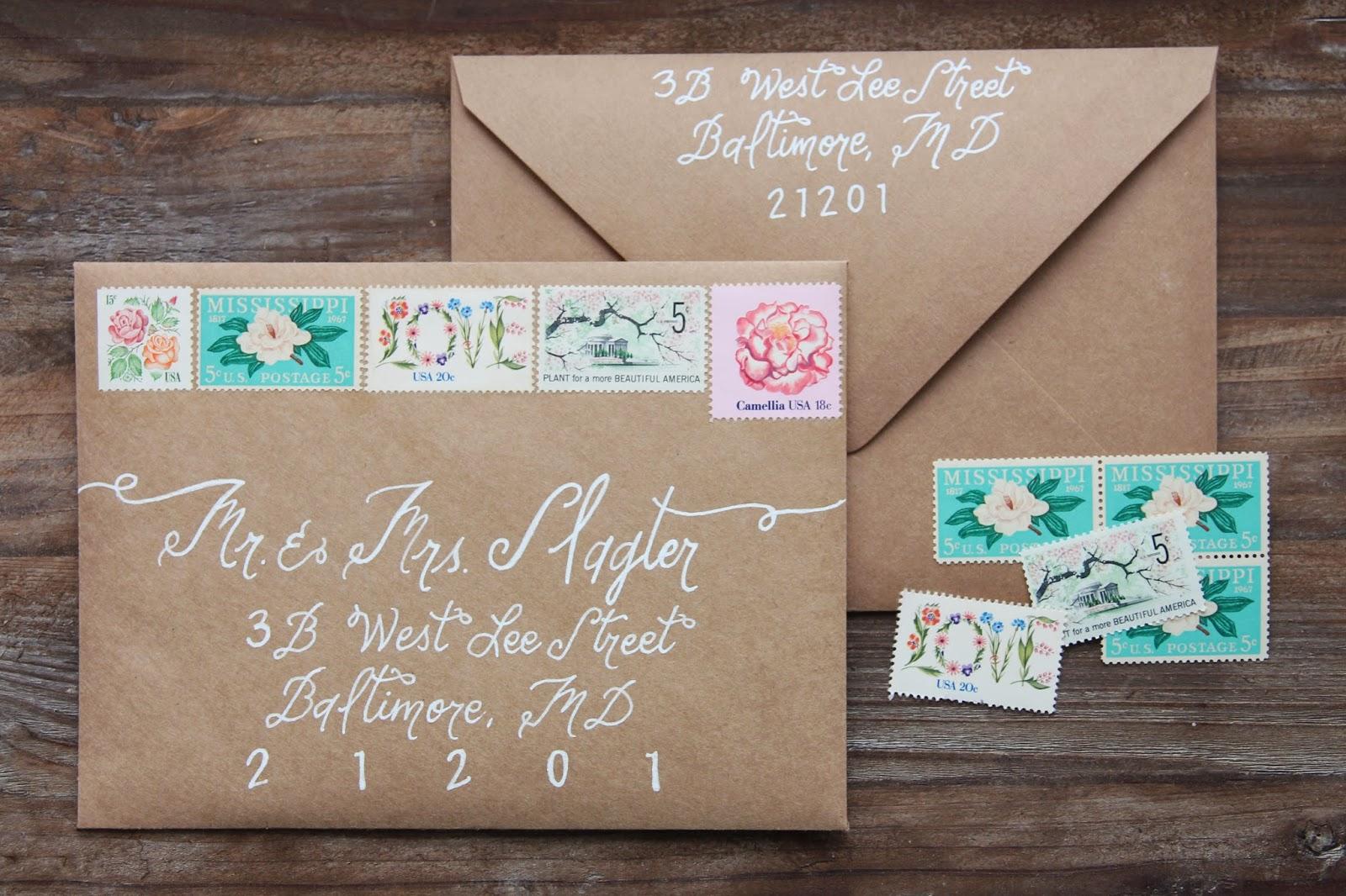 gingersnaps Wedding Invitations Vintage Stamps