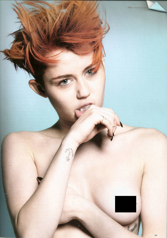 Miley Cyrus en topless para Love Magazine febrero 2014
